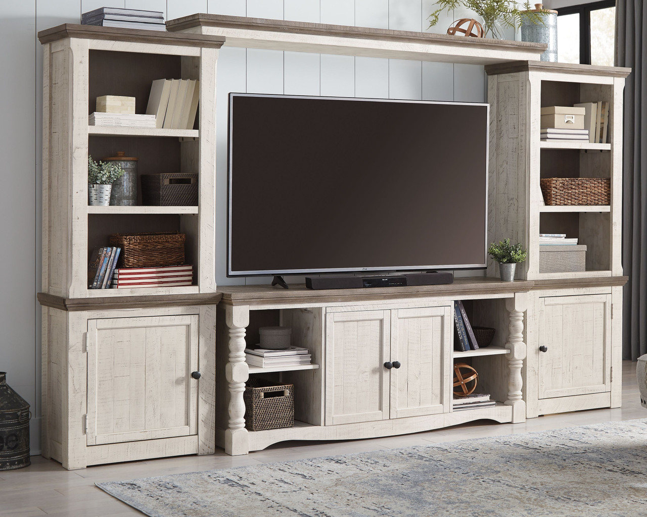 The Havalance Two-tone Entertainment Center available at