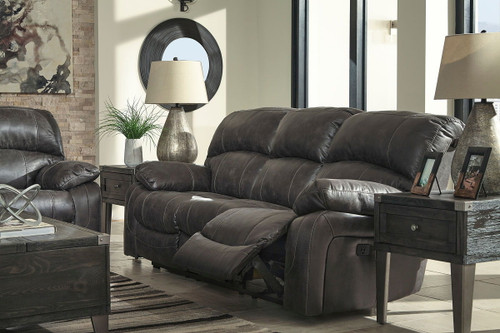 The Dunwell Steel Power Reclining Sofa With Adjustable Headrest