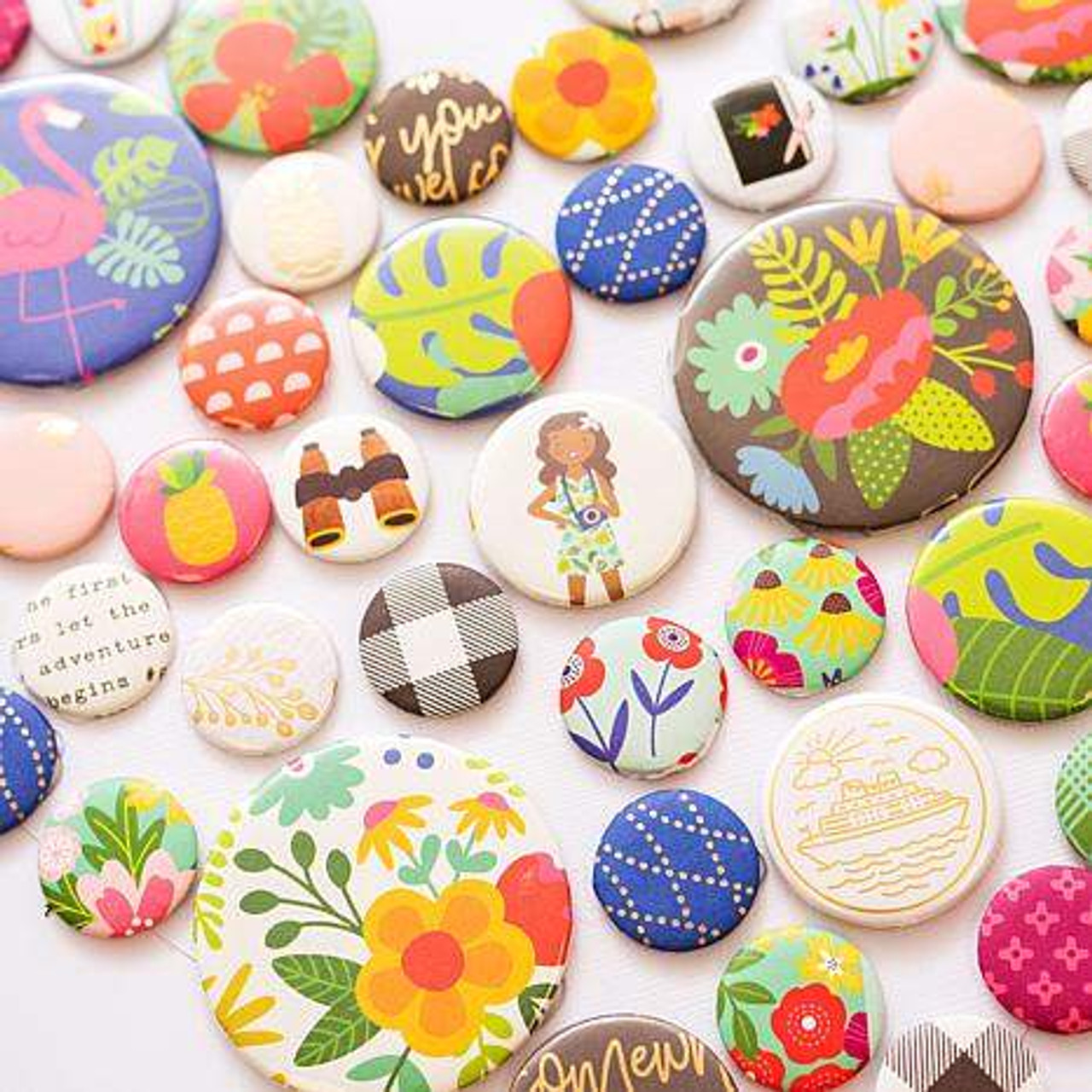 We R Memory Keepers Button Press Kit Colorful Impressions
