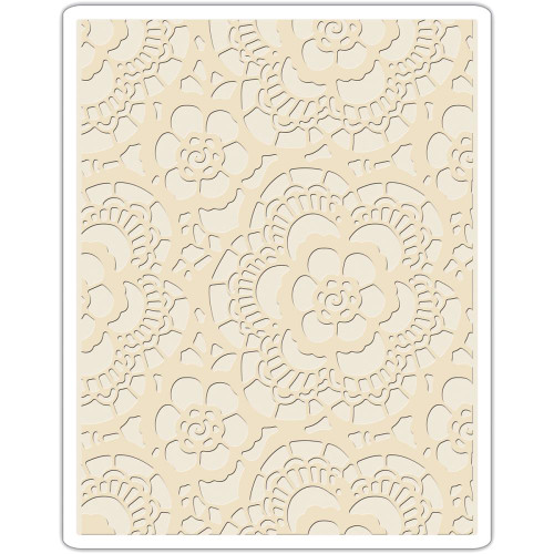 Sizzix Texture Fades Embossing Folder By Tim Holtz - Lace