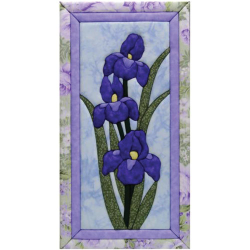 Quilt-Magic No Sew Wall Hanging Kit - Iris