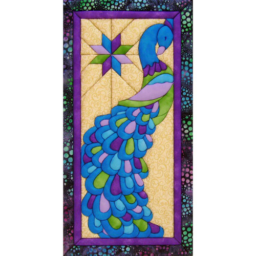 Quilt-Magic No Sew Wall Hanging Kit - Peacock