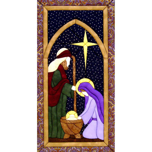 Quilt-Magic No Sew Wall Hanging Kit - Holy Family