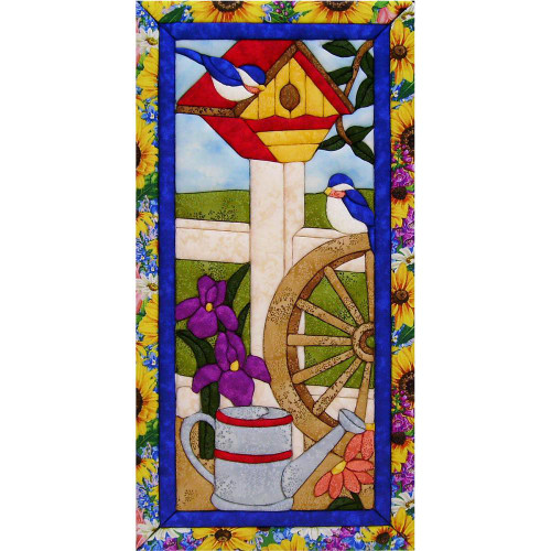 Quilt-Magic No Sew Wall Hanging Kit - Garden