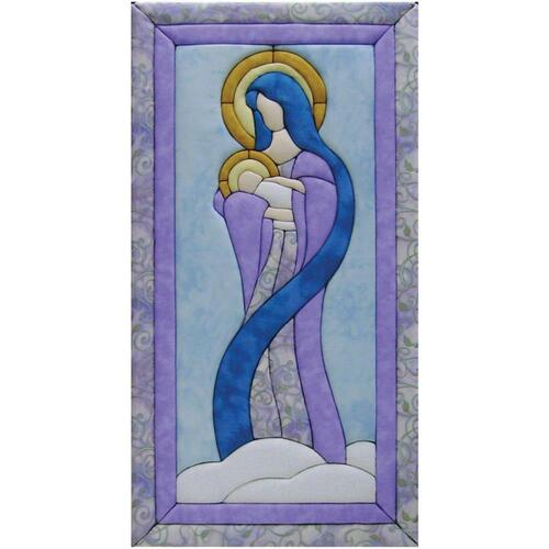 Quilt-Magic No Sew Wall Hanging Kit - Mary & Baby Jesus