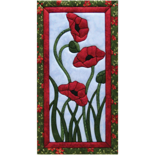Quilt-Magic No Sew Wall Hanging Kit - Trio of Poppies