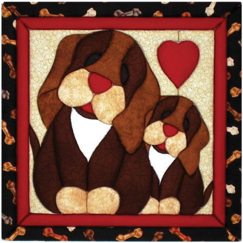 Quilt-Magic No Sew Wall Hanging Kit - Puppy Love