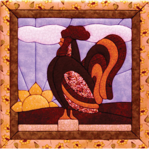 Quilt-Magic No Sew Wall Hanging Kit - Rooster