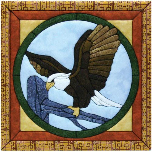 Quilt-Magic No Sew Wall Hanging Kit - Eagle