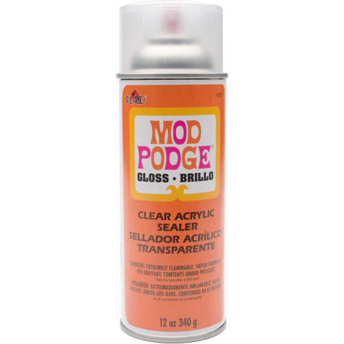 Mod Podge Clear Acrylic Aerosol Sealer - 12oz Gloss