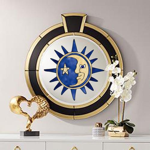 Gold & Navy Sun & Moon Window Cling