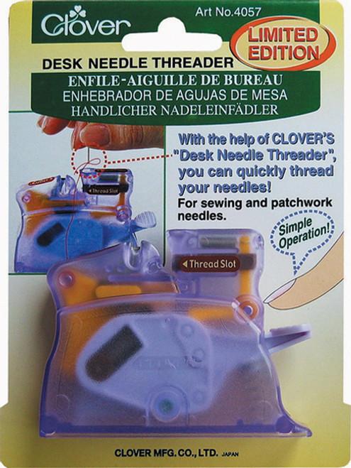 Clover Desk Needle Threader - Purple