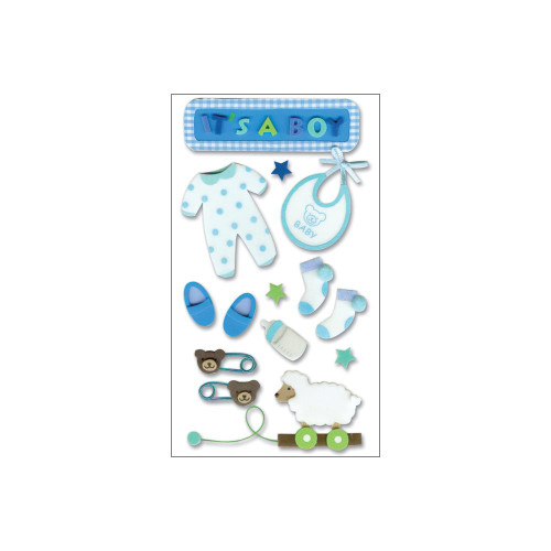 Jolee's Boutique Dimensional Stickers - Baby Boy