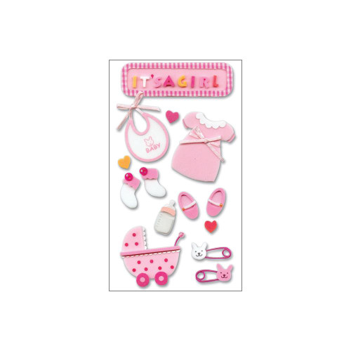Jolee's Boutique Dimensional Stickers - Baby Girl