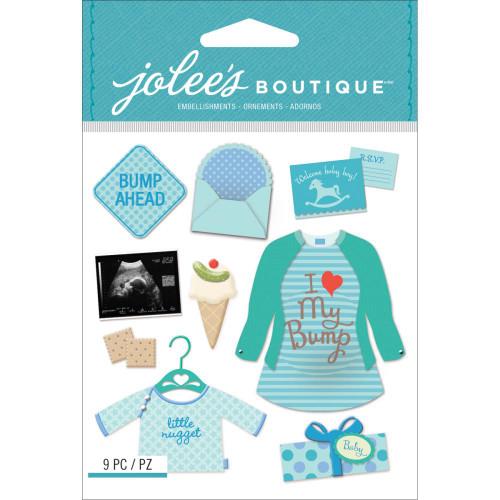 Jolee's Boutique Dimensional Stickers - Baby Boy Pregnancy