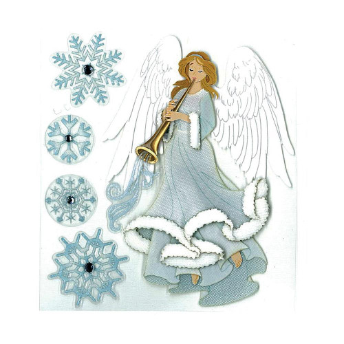 Jolee's Boutique Dimensional Stickers - Winter Angel