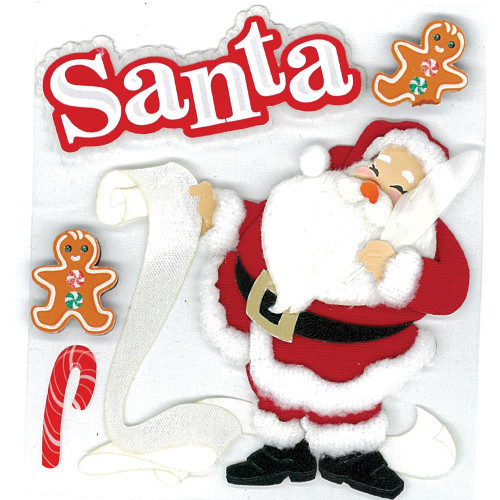 Jolee's Boutique Dimensional Stickers - Classic Santa