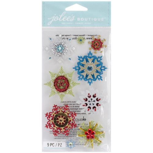 Jolee's Boutique Dimensional Stickers - Embellished Snowflakes