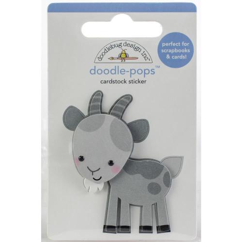 Doodlebug Doodle-Pops 3D Stickers - Billy Goat