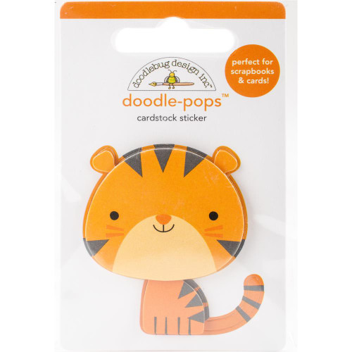 Doodlebug Doodle-Pops 3D Stickers - At The Zoo Tommy Tiger
