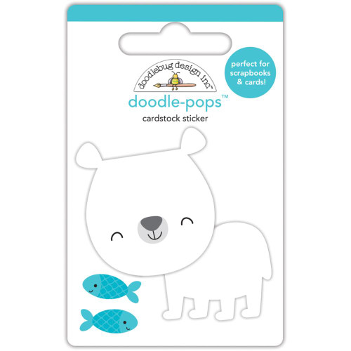 Doodlebug Doodle-Pops 3D Stickers - At The Zoo Patrick Polar Bear