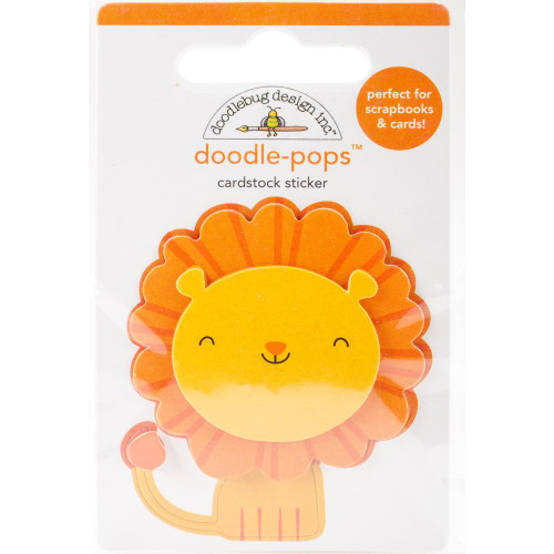Doodlebug Doodle-Pops 3D Stickers - At The Zoo Leo Lion
