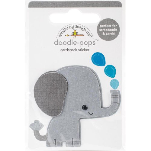 Doodlebug Doodle-Pops 3D Stickers - At The Zoo Eddie Elephant