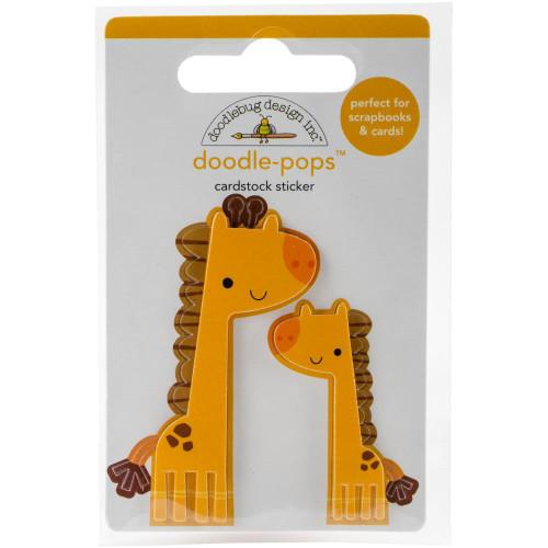 Doodlebug Doodle-Pops 3D Stickers - At The Zoo Jenny & Jojo Giraffe