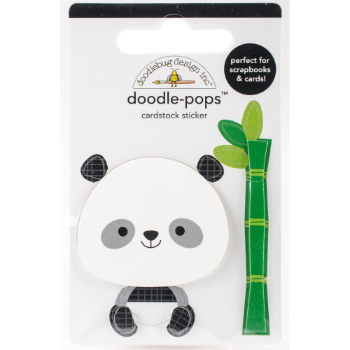 Doodlebug Doodle-Pops 3D Stickers - At The Zoo Polly Panda