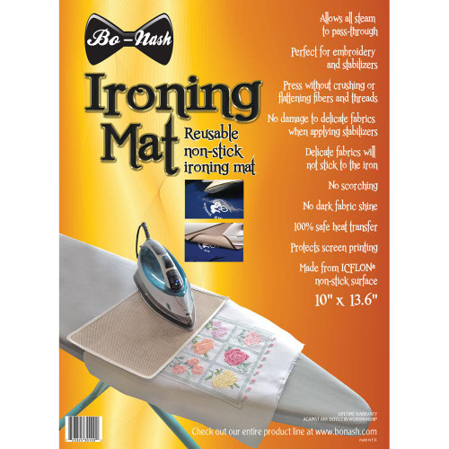 Bo-Nash Ironing Mat W/Icflon Non-Stick Surface