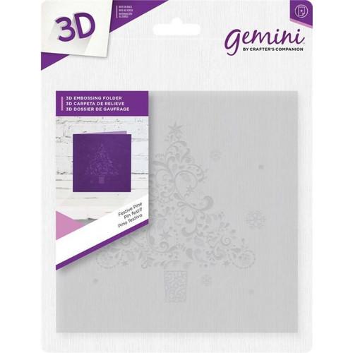 "Gemini 6""x6"" 3D Embossing Folder - Festive Pine"