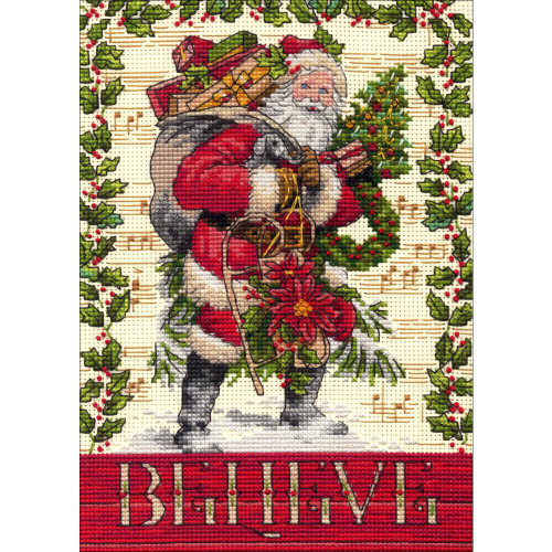 Dimensions- Counted Cross Stitch Kit - Believe In Santa