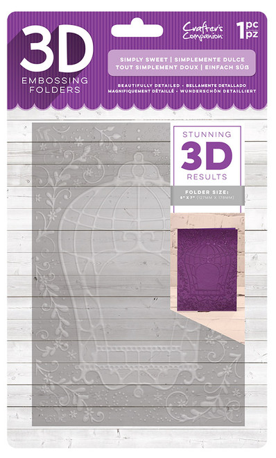 Crafter's Companion 3D Embossing Folder - Simply Sweet