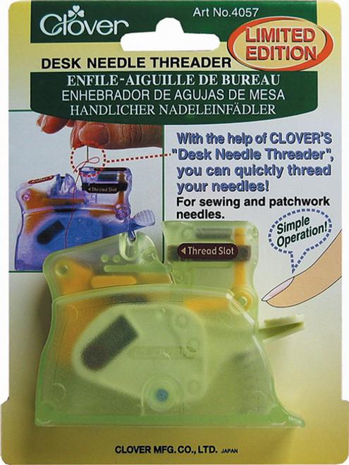 Clover Desk Needle Threader - Green