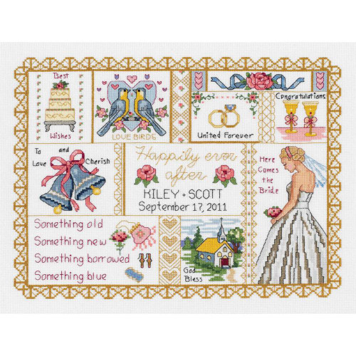 Janlynn Counted Cross Stitch Kit - Wedding Collage