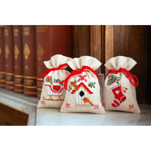 Vervaco Sachet Bags Counted Cross Stitch Kit - Christmas Motif