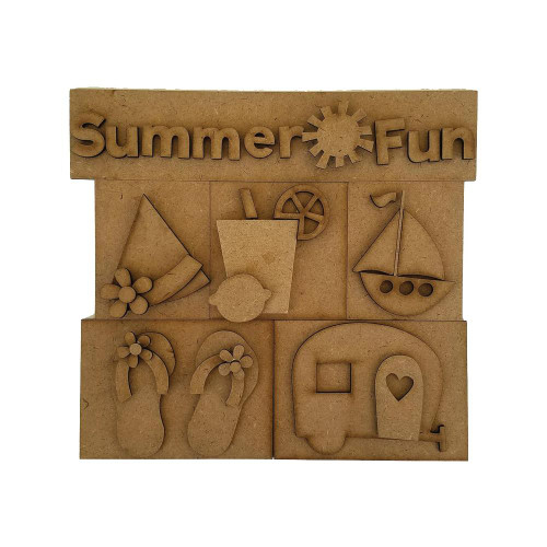 Foundations Decor Shadow Box Kit - Summer Fun