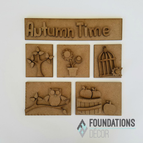 Foundations Decor Shadow Box Kit - Autumn Time