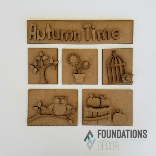 Foundations Decor Shadow Box Kit - Autumn Time