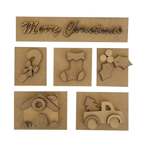 Foundations Decor Shadow Box Kit - Christmas