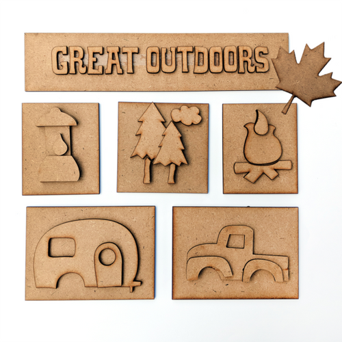 Foundations Decor Shadow Box Kit - Great Outdoors