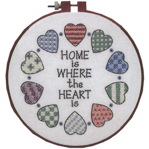 Dimensions Stamped Cross Stitch Kit - Home & Heart