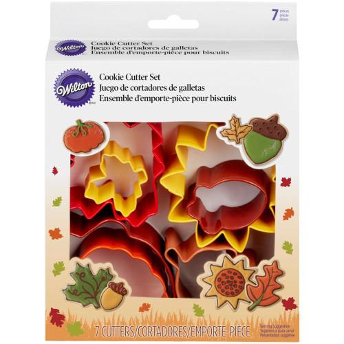 Wilton Metal Cookie Cutter Set 7pcs - Autumn