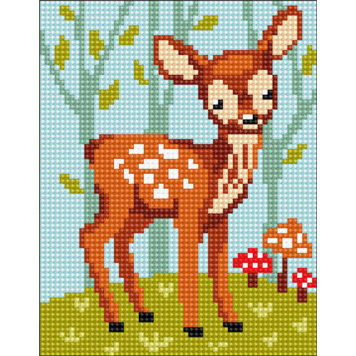 Collection D'Art Stamped Needlepoint Kit - Fawn
