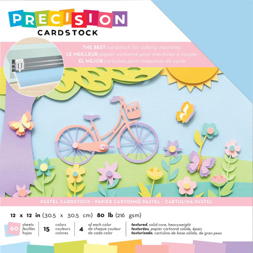 American Crafts Precision Cardstock - Pastel/Textured