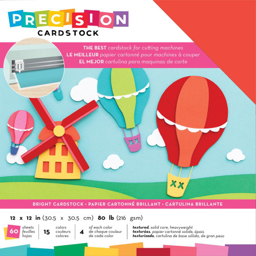 American Crafts Precision Cardstock - Bright/Textured
