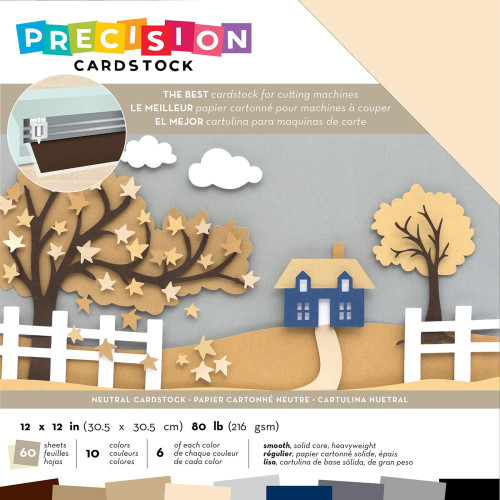 American Crafts Precision Cardstock - Neutral/Smooth