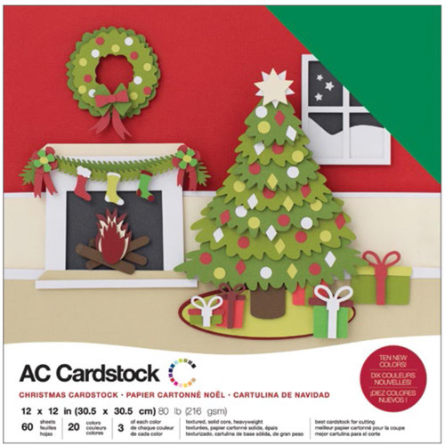 American Crafts Variety Cardstock 60/Pkg - Christmas