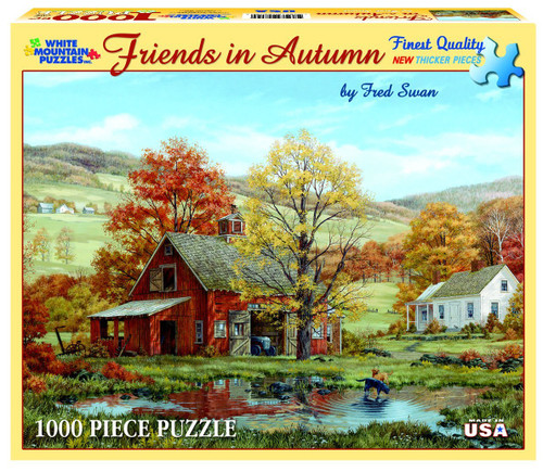 White Mountain 1000 Pc. Jigsaw Puzzle - Friends In Autumn
