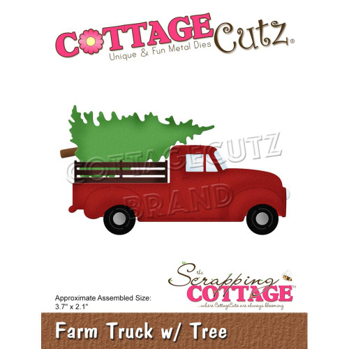 CottageCutz Die - Farm Truck W/Tree